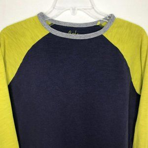 Boden Baseball Blue Yellow Long Sleeve Tee Size 16
